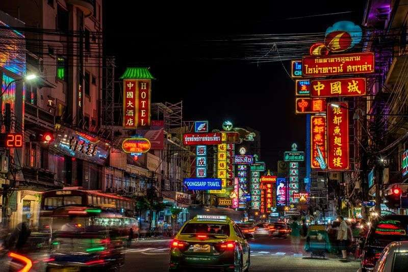 Chinatown in Bangkok<br>